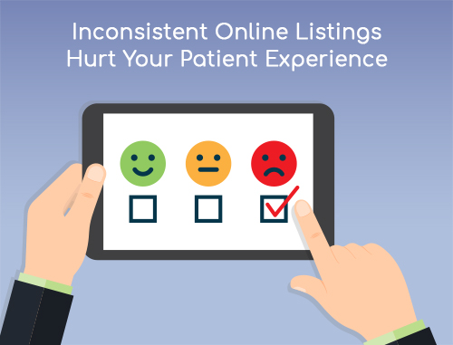 Why We Must Be Patient When Searching >> Inconsistent Online Listings Hurt Your Patient Experience