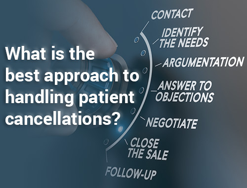 What is the best approach to handling patient cancellations?