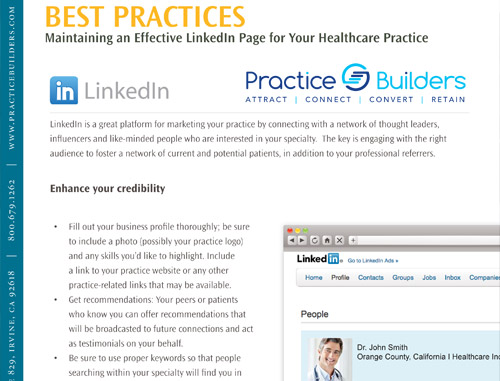 Best Practices Guide: LinkedIn for Healthcare Professionals