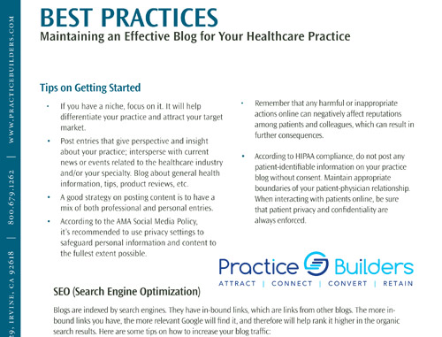 Best Practices Guide: Blogs for Healthcare Professionals