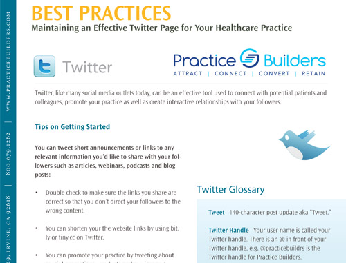 Best Practices Guide: Twitter for Healthcare Professionals